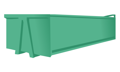 Roll-on roll-off skip